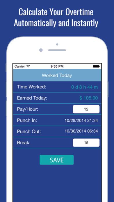 aplikacja working hours clock billable paycheck tracker