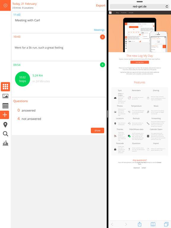 Log My Day - Neue Version Screenshot