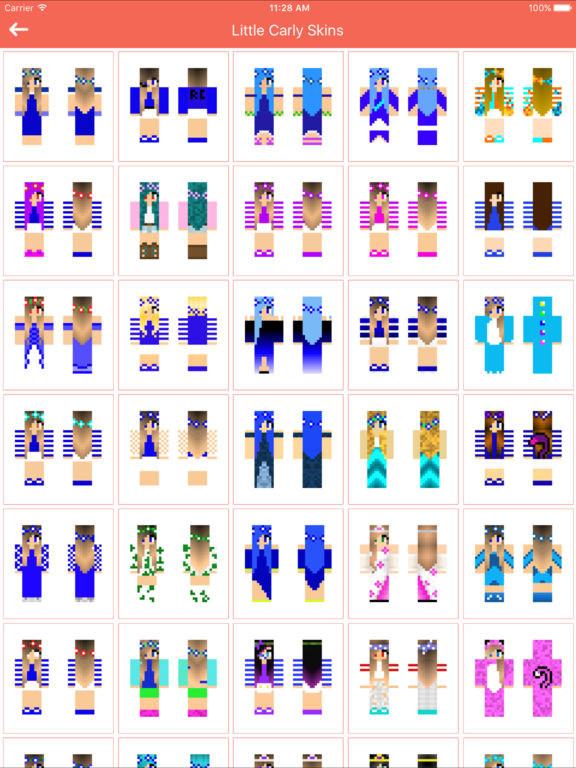 Skins of little carly for minecraft pocket edition par - The little club ...