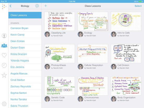 Educreations Interactive Whiteboard Screenshot