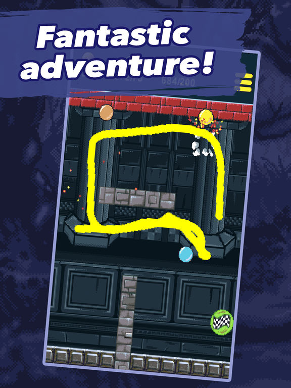 Screenshot 1 Draw a line adventure