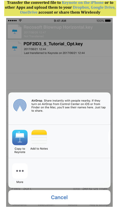 PDF to Keynote by PDF2Office - the PDF Converter on the App Store