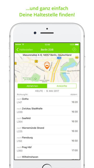 MeinFernbus: Die Fernbus App Screenshot