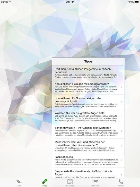 Lens Timer - Erinnern + Nachbestellen Screenshot