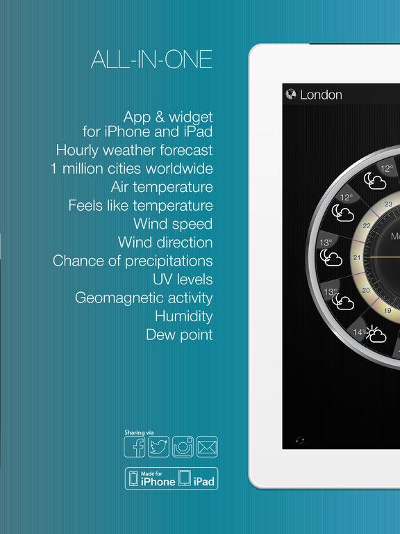Weather Clock Widget: Weather Forecast at a Glance Screenshot
