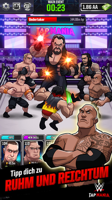 WWE Tap Mania iOS Screenshots