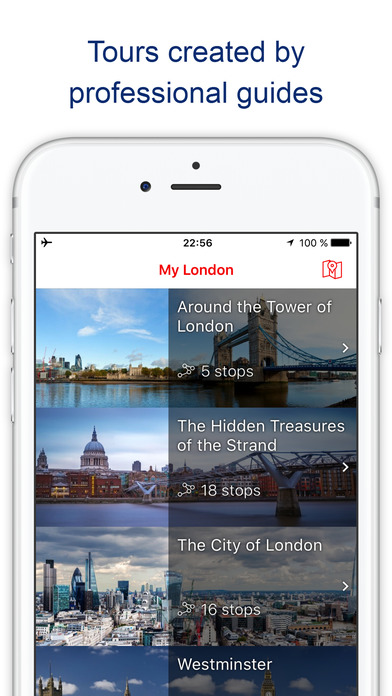 My London - Travel guide & map with sights (UK)