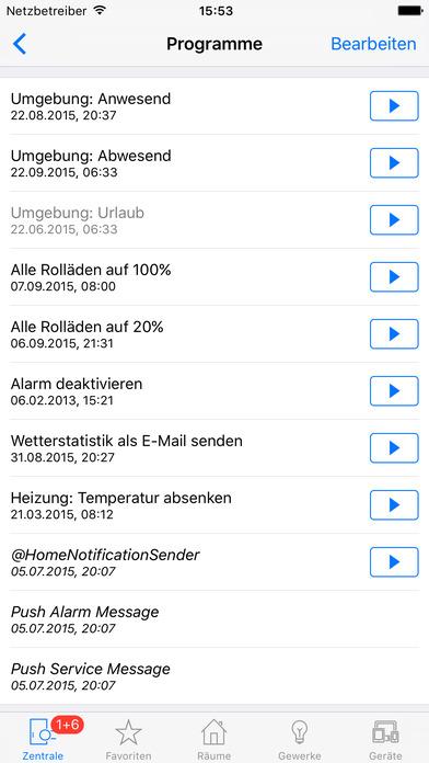 @Home - Smart Home mit HomeMatic Screenshot