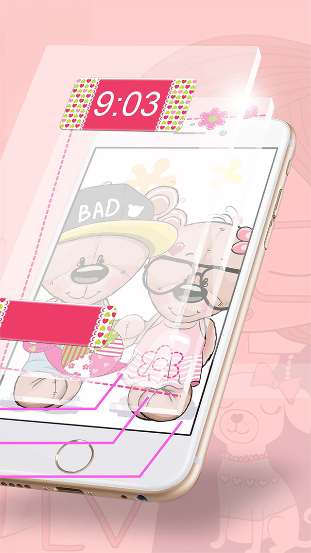 Cute wallpapers for girls free girly lock screen themes and screenshots iphone ipod screenshots iphone ipod voltagebd Choice Image