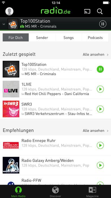 radio.de PRIME Screenshots