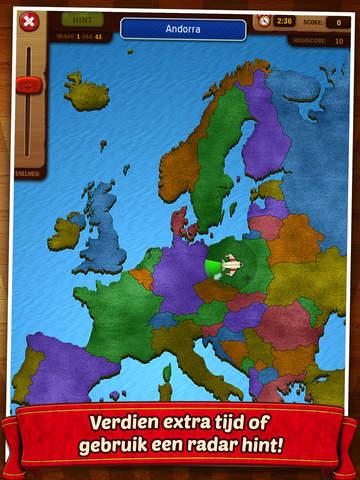 Topo Europa - Snel, leuk en makkelijk topografie leren voor kinderen (landen, hoofdsteden en steden) Screenshot