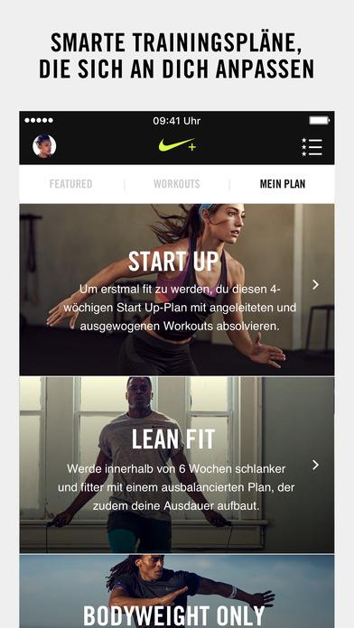 Nike+ Training Club Screenshot