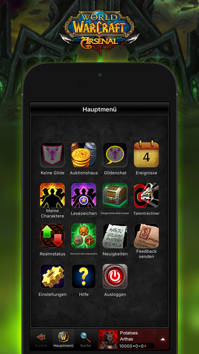 World of Warcraft Mobile Armory Screenshot