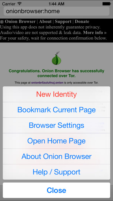 Onion Browser - Tor-Powered Secure & Anonymous Browsing Screenshot