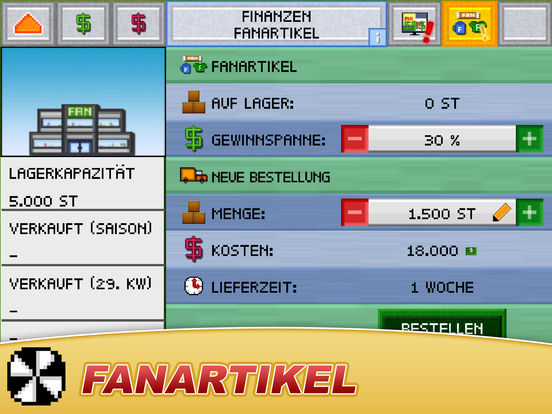 Fussball Pocket Manager - Liga Pokal Kicker 2016 Screenshot