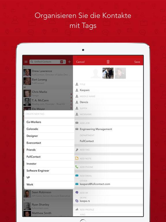FullContact Adressbuch und Kontaktmanager Screenshot