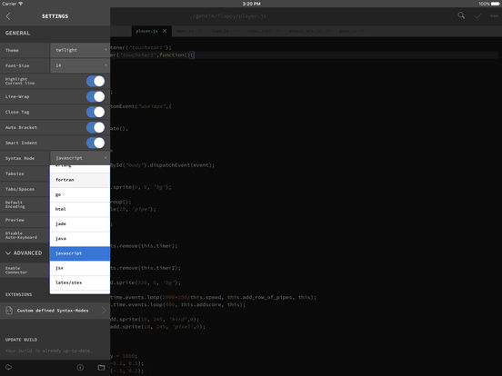 GoCoEdit - Code & Text Editor for DROPBOX FTP SFTP Screenshot