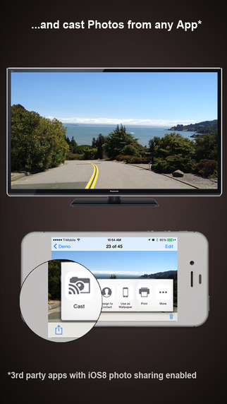 Photo Cast for Chromecast, the best app for video, photo & slideshow casting. Screenshot