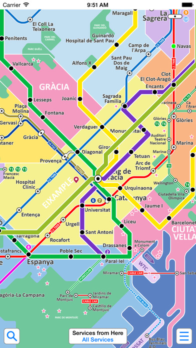 Barcelona Metro - Map and route planner by Zuti Screenshot
