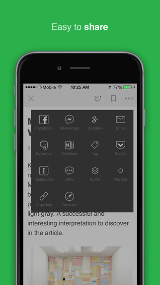 Feedly Reader - Aktualizace s optimalizací pro iPhone 6