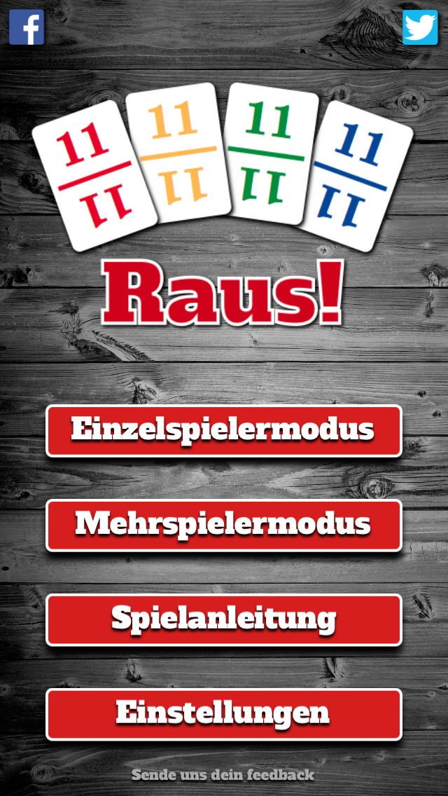 Raus! iOS Screenshots
