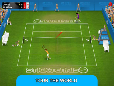 Stick Tennis Tour iOS Screenshots
