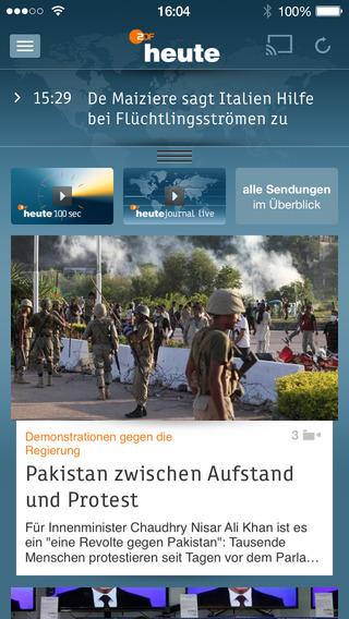 ZDFheute Screenshot
