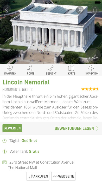 Washington Reiseführer (Offline Stadtplan) - mTrip Screenshots