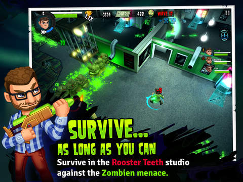 Rooster Teeth vs Zombiens iPhone iPad