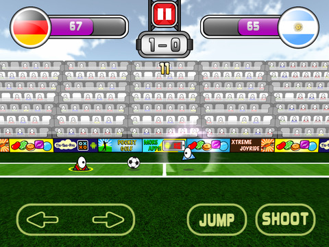 Super Triclops Soccer iOS Screenshots