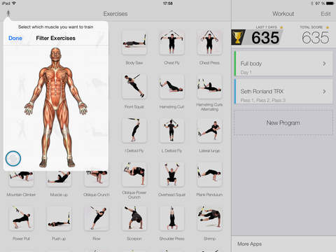 Virtual Trainer Suspension Screenshot
