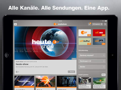 ZDF-App Screenshot