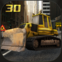 Construction crane operator simulator 3D