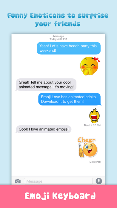 download Emoji Love PRO - Animated Funny Emoticons - Cool Characters & Emoji Keyboard Icons & Emojis Stickers for Chatting apps 0