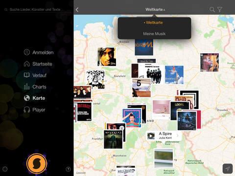 SoundHound + LiveLyrics | Musik suchen und hören, Lieder und Songtexte spielen Screenshot