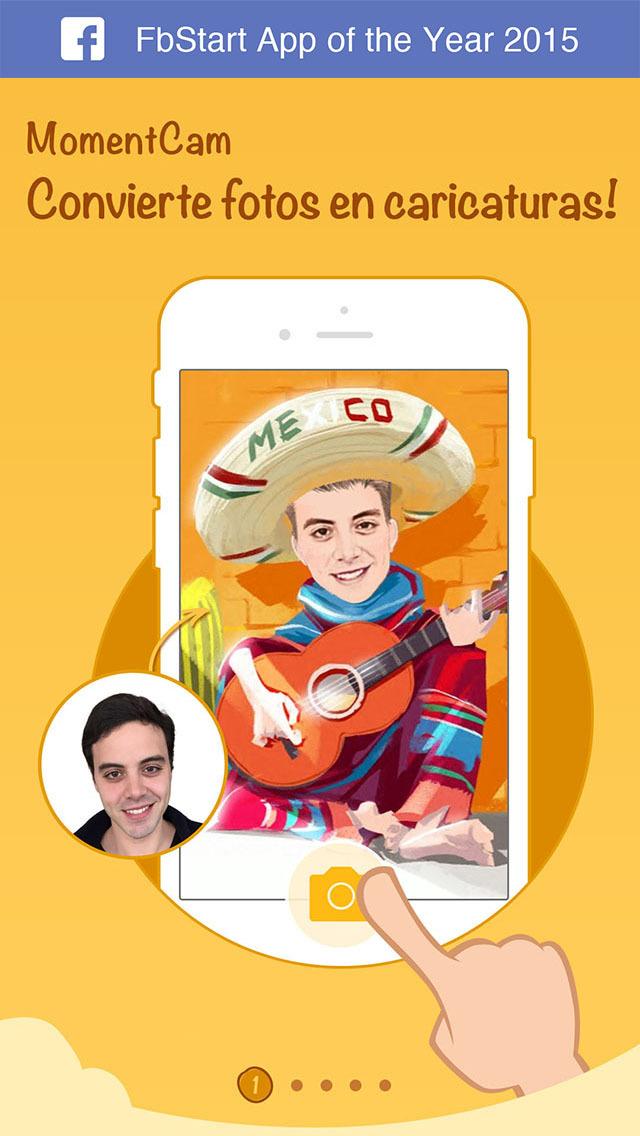MomentCam, app móvil gratuita para convertir fotos en caricaturas