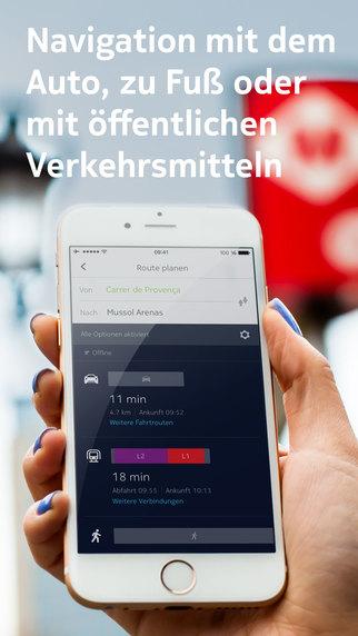 HERE Maps - Offline-Navigation, Karten & Verkehrsinfos Screenshot