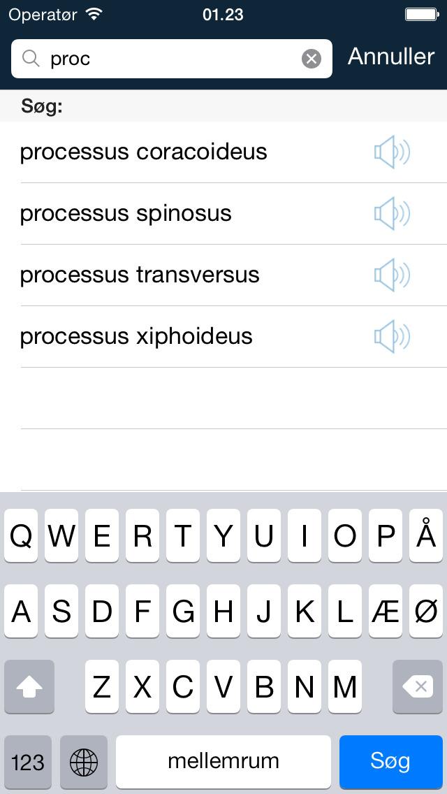 Screenshot for Medicinske fagtermer in Denmark App Store