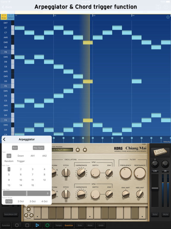 KORG Gadget Screenshot