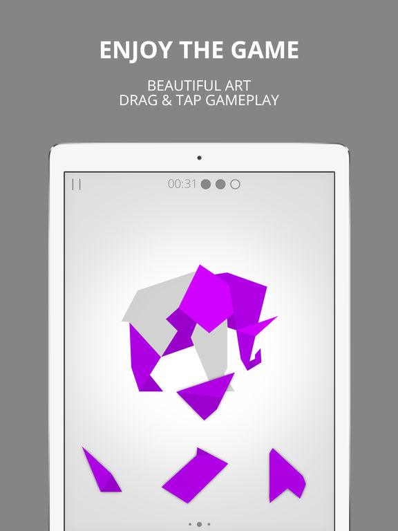 Cardinal Land - Jigsaw & Tangram Puzzle Blend iOS Screenshots