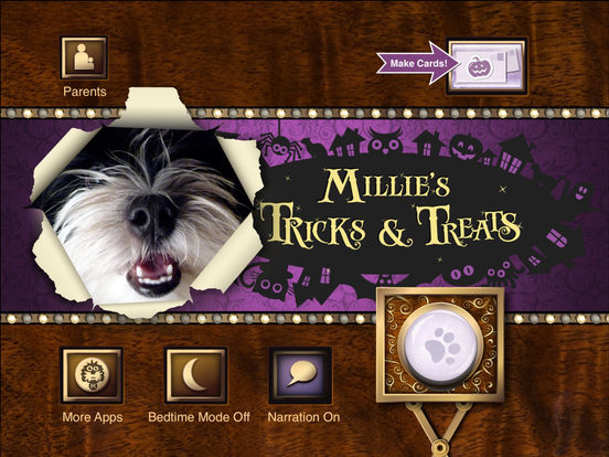 Millie's Book of Tricks and Treats iPad