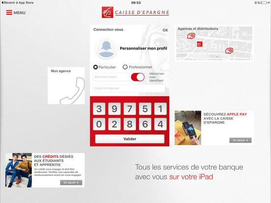 Caisse d 39 epargne pour ipad dans l app store - Plafond carte bancaire caisse epargne ...