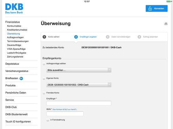 DKB-Banking Screenshot