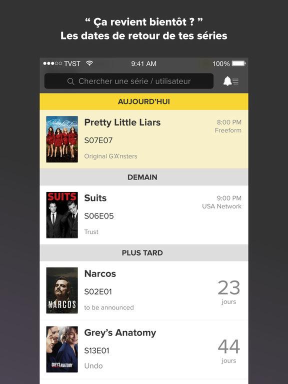 TVShow Time, calendrier pour fans de séries TV Capture d'écran