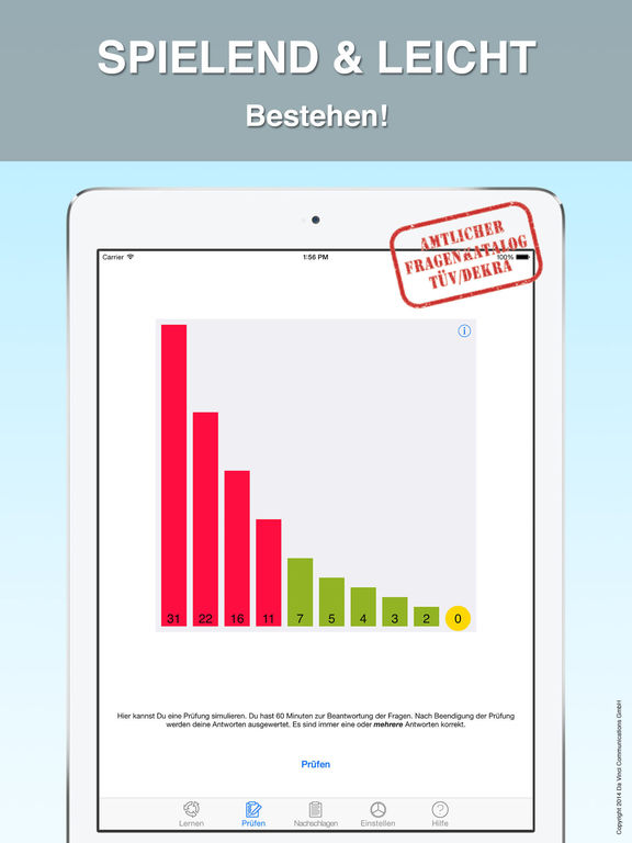 ifahrschule light pr fungsbogen f r mofa f hrerschein kostenlose apps f r iphone ipad. Black Bedroom Furniture Sets. Home Design Ideas