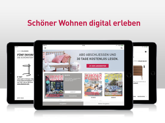 sch ner wohnen magazin im app store. Black Bedroom Furniture Sets. Home Design Ideas