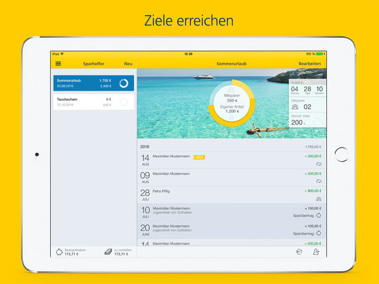 Postbank Finanzassistent Screenshot