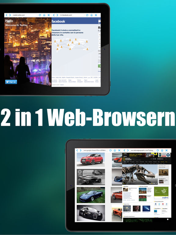 Double Browser ( 2 browser in 1 ) Screenshot