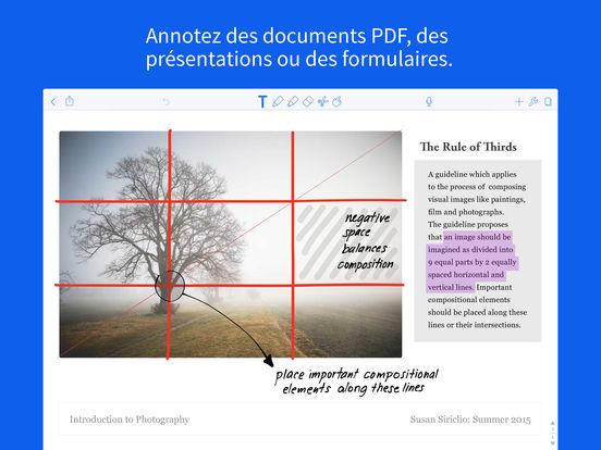 Notability Capture d'écran