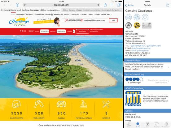 ADAC Camping- und Stellplatzführer 2016 Screenshots